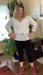 Melanie 80 pounds lighter and loads happier!